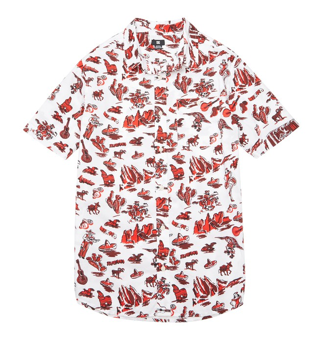 0 Men's Fiesta SS Shirt White ADYWT00068 DC Shoes