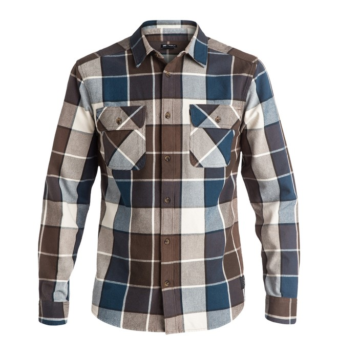 0 Men's Kalis Plaid Long Sleeve Shirt  ADYWT03054 DC Shoes