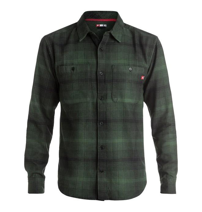 0 Venetian Hombre Flannel - Long Sleeve Shirt Brown ADYWT03055 DC Shoes
