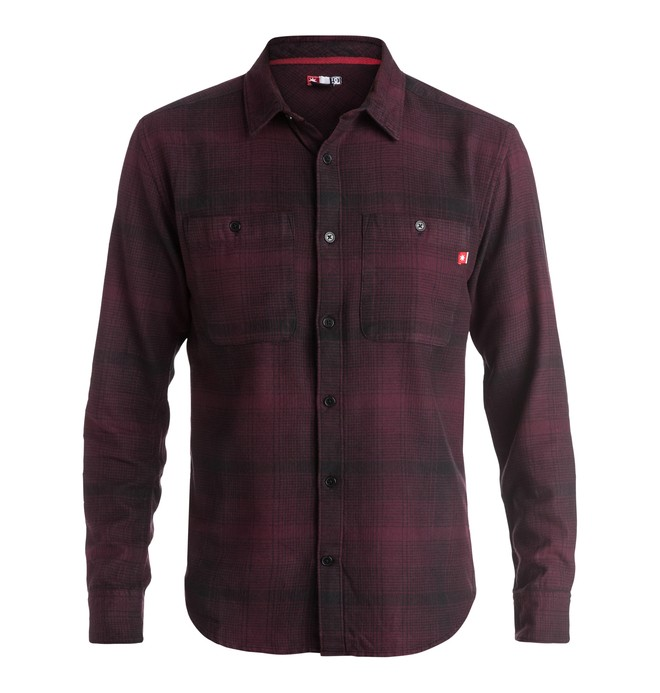 0 Venetian Hombre Flannel - Long Sleeve Shirt Red ADYWT03055 DC Shoes