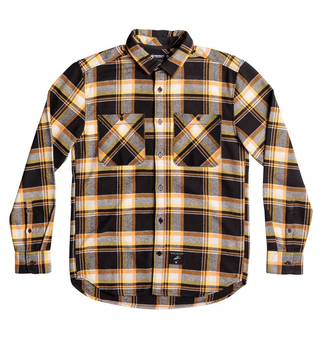 0 Men's Flannel Long Sleeve Shirt Orange ADYWT03060 DC Shoes
