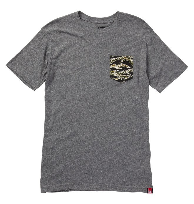 0 Men's Rob Dyrdek CAMO POCKET Tee Black ADYZT00613 DC Shoes