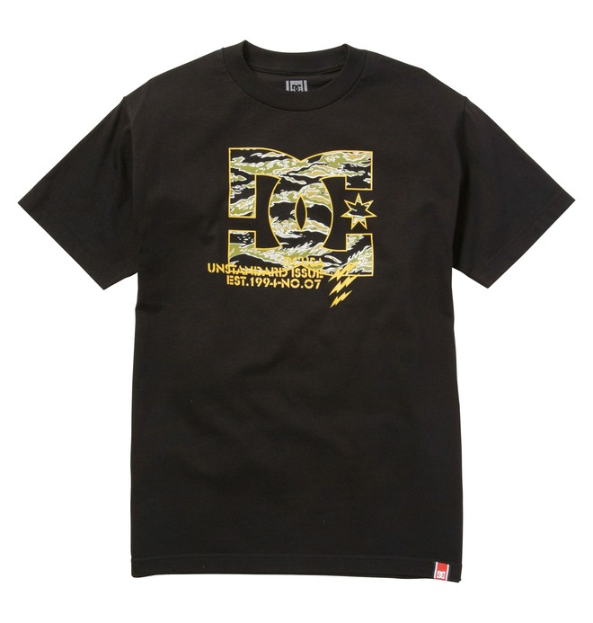 0 Men's Rob Dyrdek Tigerstripe Tee Black ADYZT00617 DC Shoes