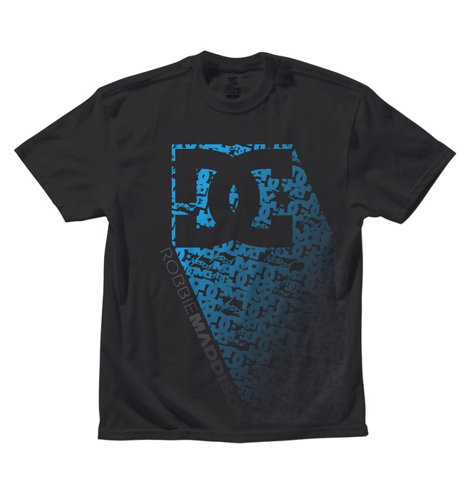 0 Men's Robbie Maddison Matrix Blue Tee Black ADYZT00634 DC Shoes