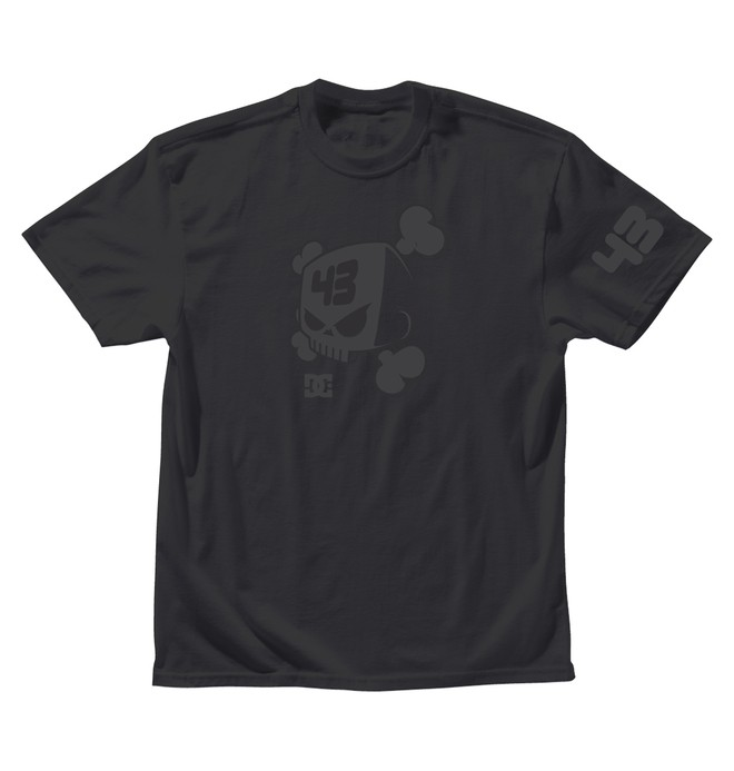 0 Men's Ken Block Blackout Skull Tee  ADYZT00635 DC Shoes