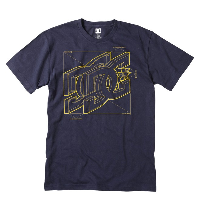 0 Men's Schematics Tee  ADYZT00763 DC Shoes