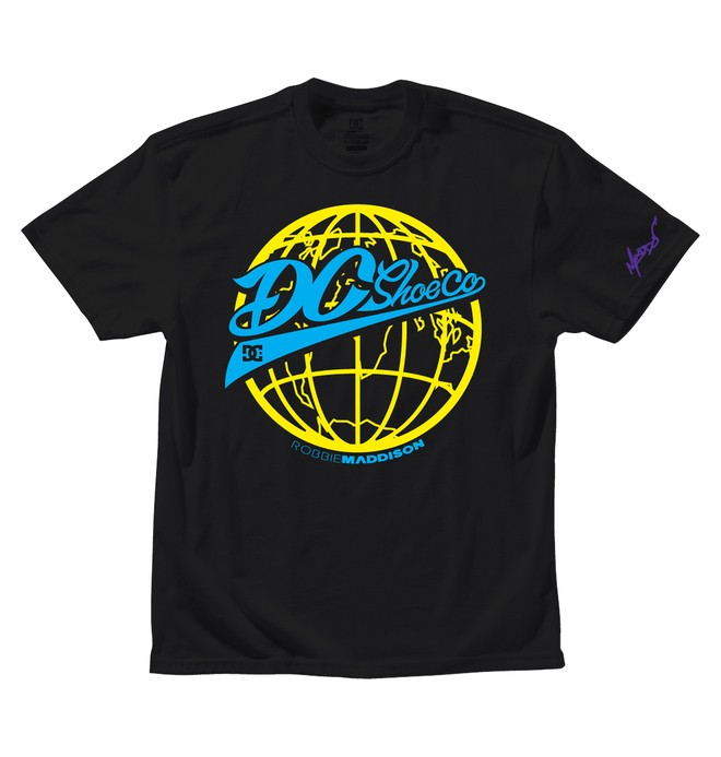 0 Men's Robbie Maddison World Wide Tee  ADYZT00914 DC Shoes