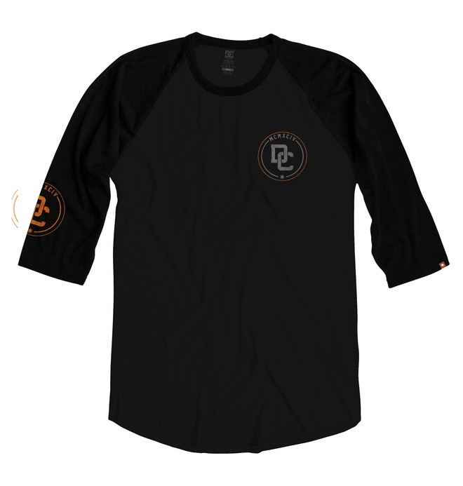 0 Men's Pike Tee Black ADYZT01003 DC Shoes