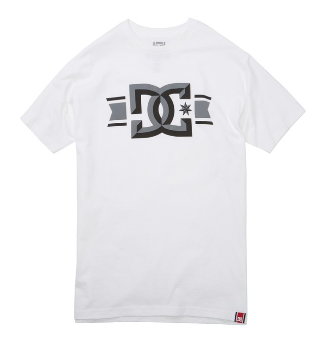 0 Men's Rob Dyrdek Banner Bevel Tee White ADYZT01212 DC Shoes