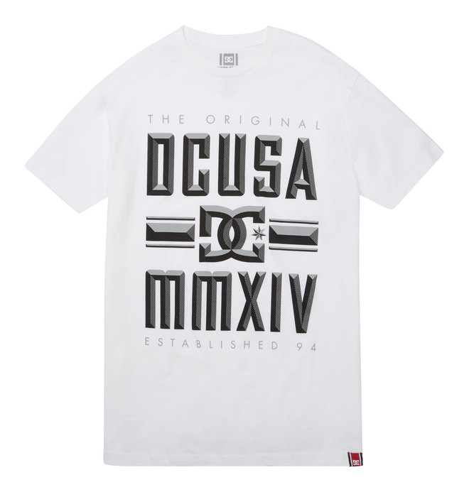 0 Men's Rob Dyrdek Bevel Tee White ADYZT01213 DC Shoes