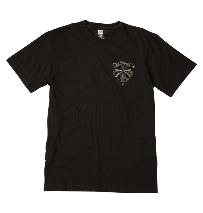 0 Men's Business Cut Tee Black ADYZT01296 DC Shoes