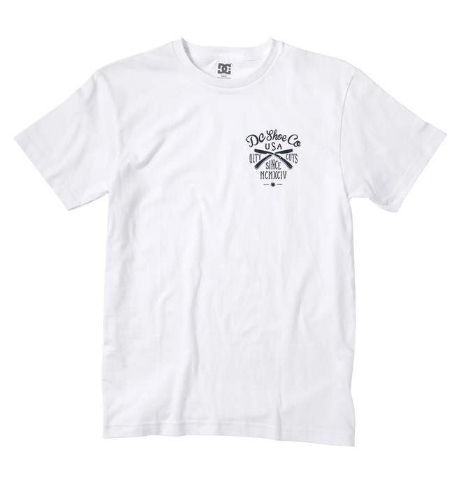 0 Men's Business Cut Tee White ADYZT01296 DC Shoes