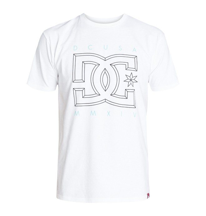 0 RD Deluxe Tee White ADYZT03020 DC Shoes