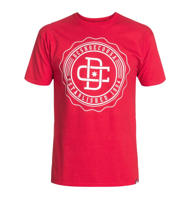 0 RD University Tee Red ADYZT03025 DC Shoes