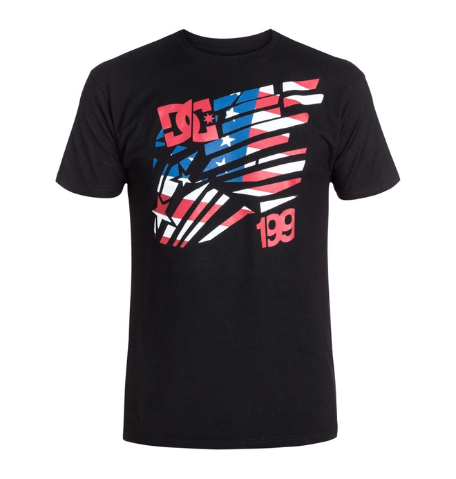 0 TP American Tee Black ADYZT03026 DC Shoes