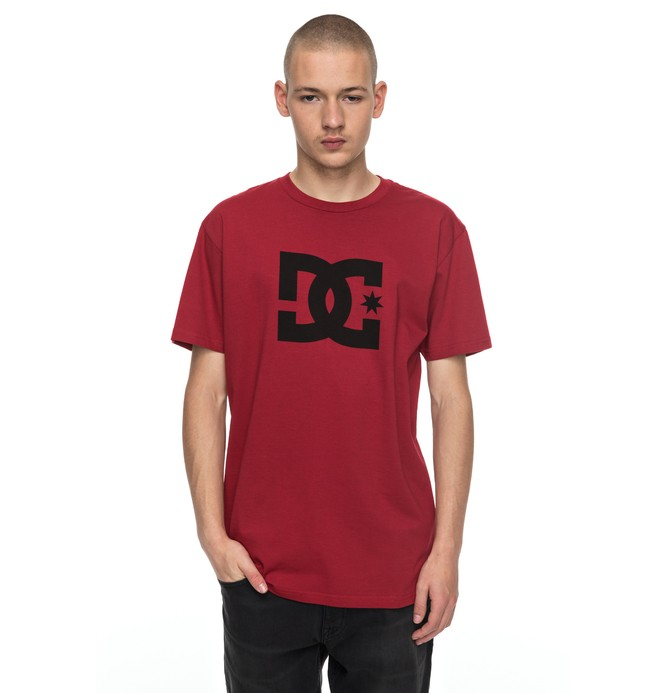 0 Men's DC Star Tee Red ADYZT03119 DC Shoes
