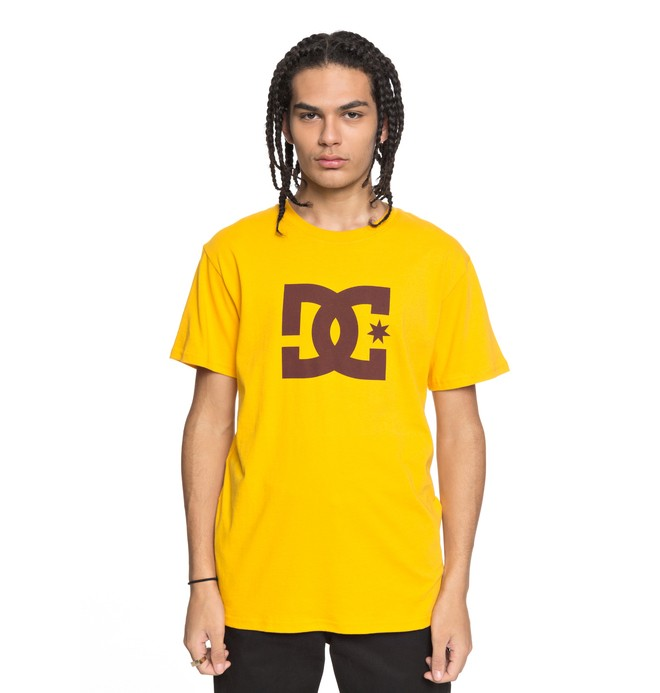 0 Men's DC Star Tee Yellow ADYZT03119 DC Shoes