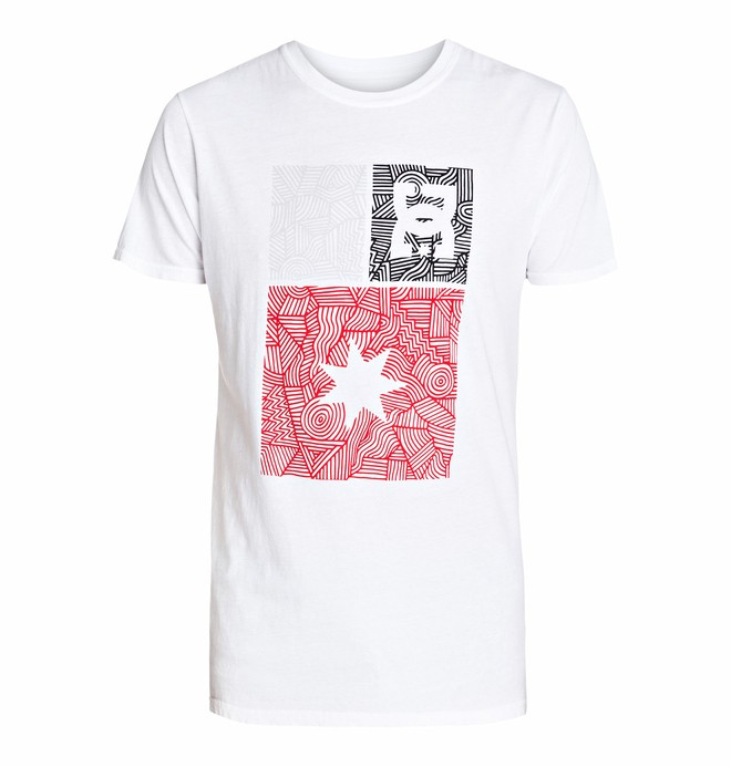 0 Men's Ornate Short Sleeve Screen Tee  ADYZT03239 DC Shoes