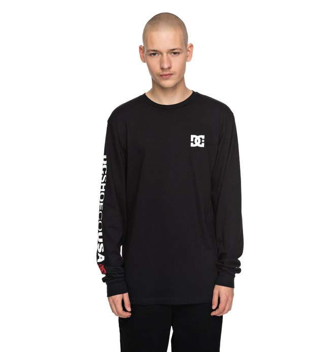 0 Men's 94 Award Long Sleeve Tee Black ADYZT04172 DC Shoes
