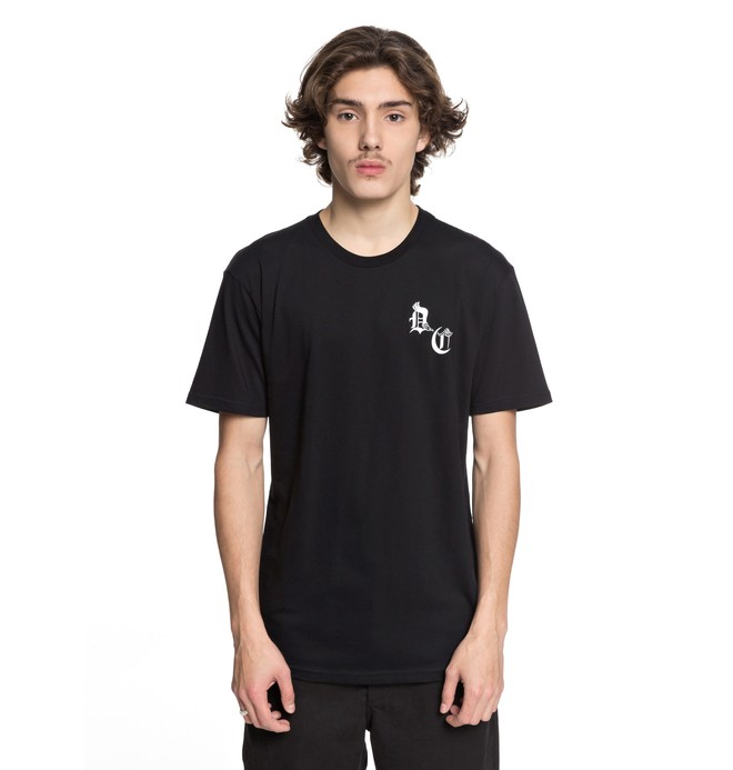 0 Men's DC Sugihara Snake Tee Black ADYZT04212 DC Shoes