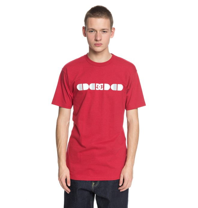 0 Men's Global Salute Tee Red ADYZT04216 DC Shoes