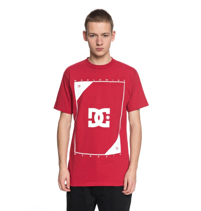 0 Men's Theroy Tee Red ADYZT04226 DC Shoes