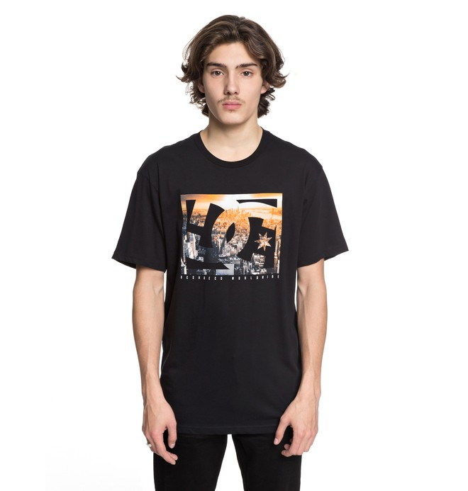 0 Men's Empire Henge Tee Black ADYZT04230 DC Shoes