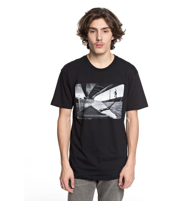 0 Men's Wes Switch Blunt Tee Black ADYZT04232 DC Shoes