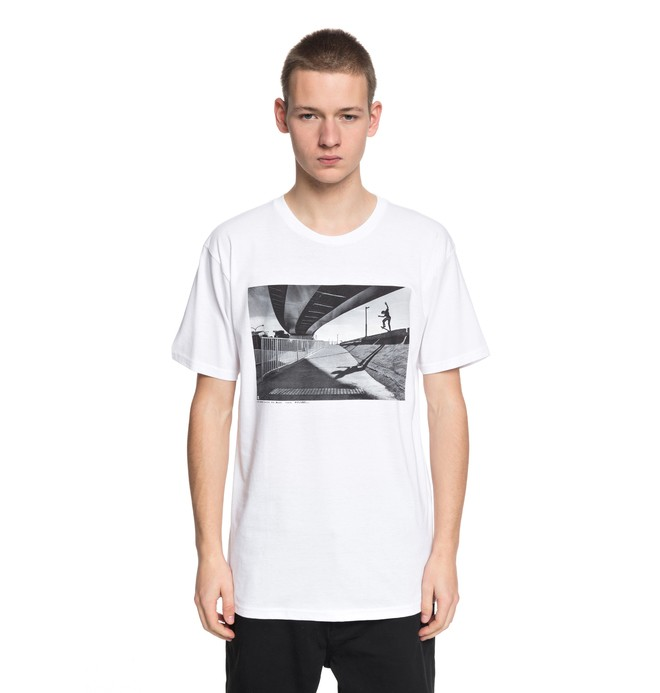 0 Men's Wes Switch Blunt Tee White ADYZT04232 DC Shoes