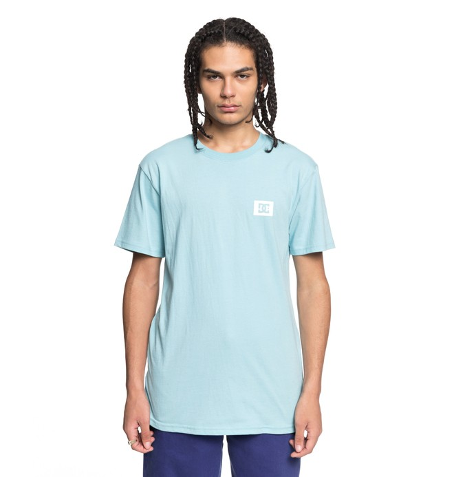 0 Men's Stage Box Tee Blue ADYZT04245 DC Shoes