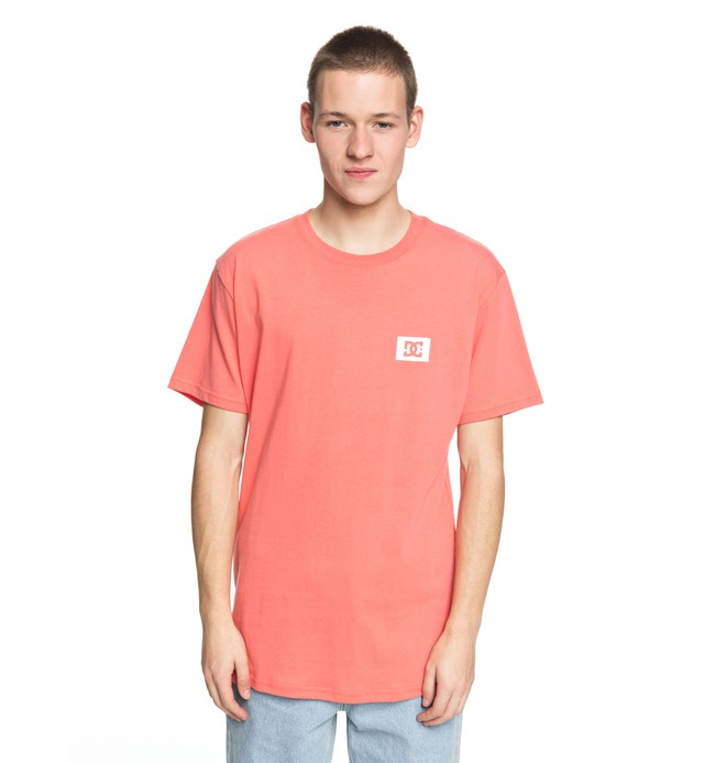 0 Men's Stage Box Tee Pink ADYZT04245 DC Shoes