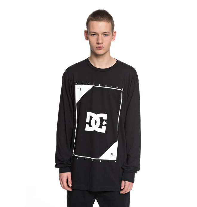 0 Men's Theory Long Sleeve Tee Black ADYZT04246 DC Shoes