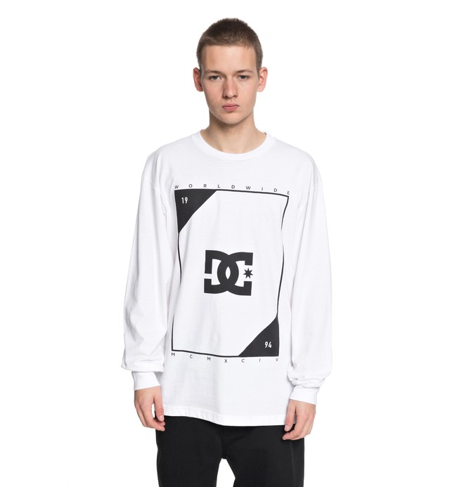 0 Men's Theory Long Sleeve Tee White ADYZT04246 DC Shoes