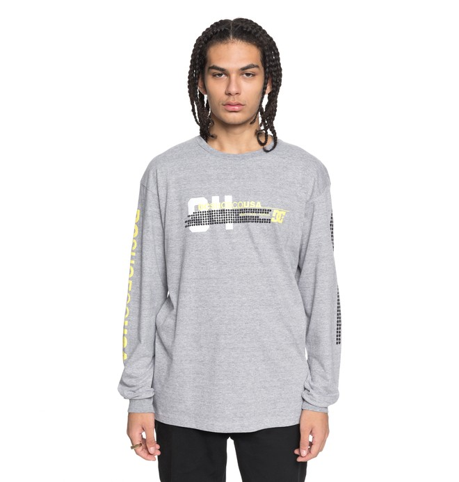 0 Men's Mad Racer Long Sleeve Tee Black ADYZT04253 DC Shoes