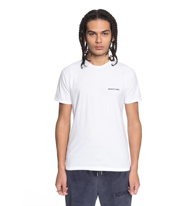 0 Men's Embroidered Tee White ADYZT04279 DC Shoes
