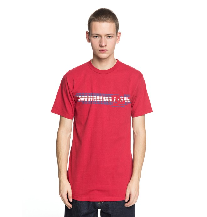 0 Men's Knockout Tee Red ADYZT04316 DC Shoes
