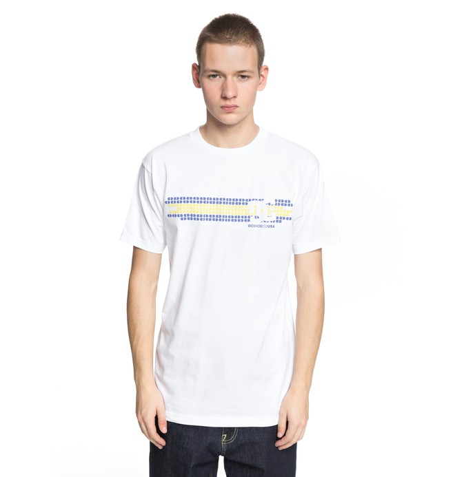 0 Men's Knockout Tee White ADYZT04316 DC Shoes