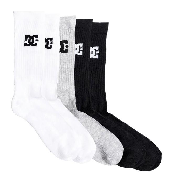 0 SPP DC 3Pk - Crew Socks Black EDBAA03001 DC Shoes