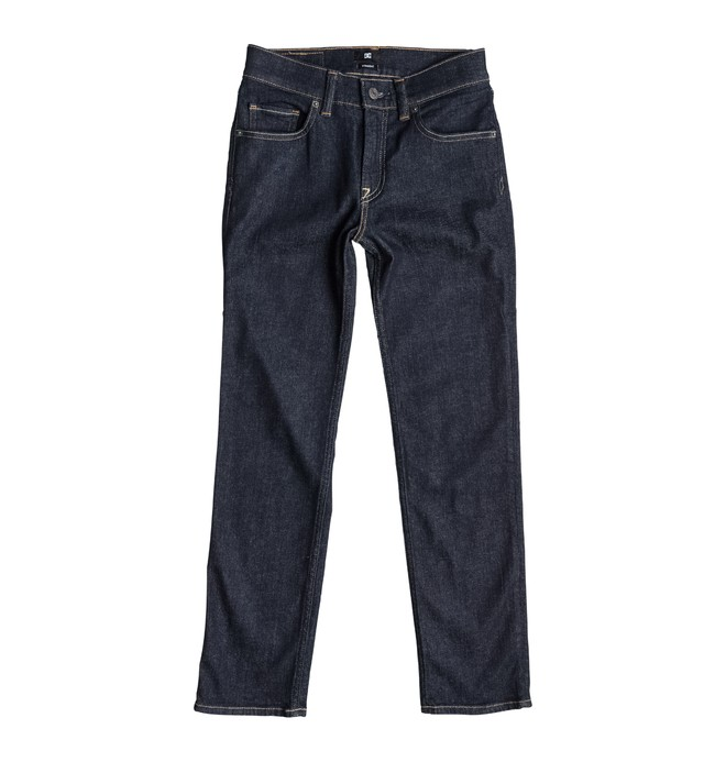 0 Worker Straight Fit Indigo Rinse - Jean straight  EDBDP03017 DC Shoes