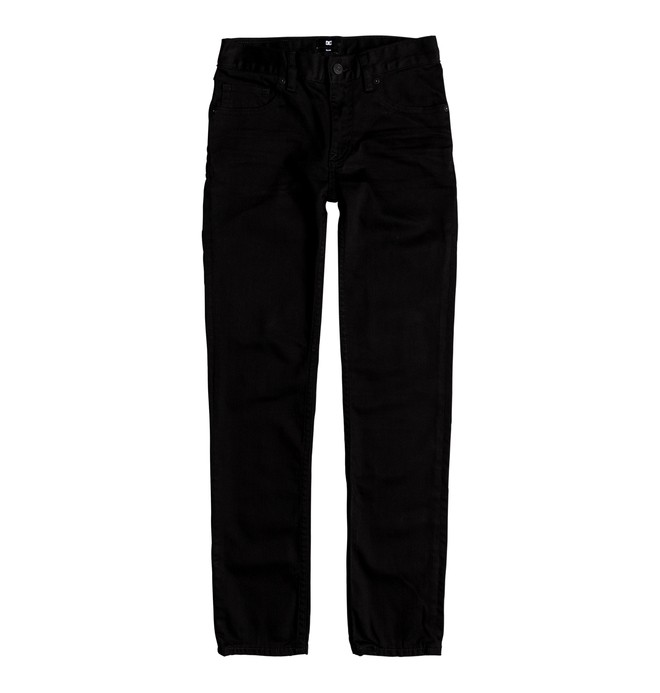 0 Worker Black Rinse Slim - Jean slim Noir EDBDP03041 DC Shoes