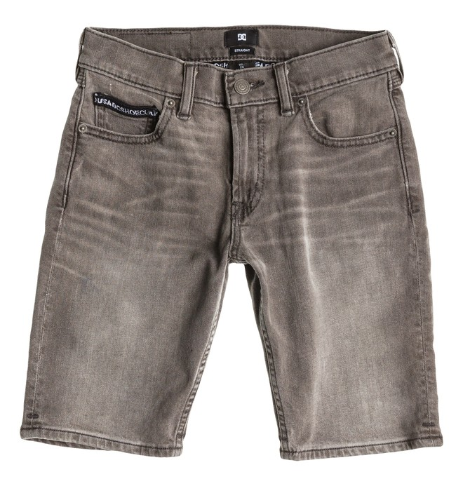 0 Worker Straight Denim Shorts Grey Boy Black EDBDS03000 DC Shoes