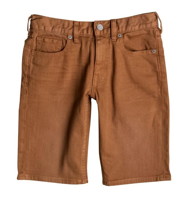 0 Colour Straight - Denim Shorts Brown EDBDS03004 DC Shoes