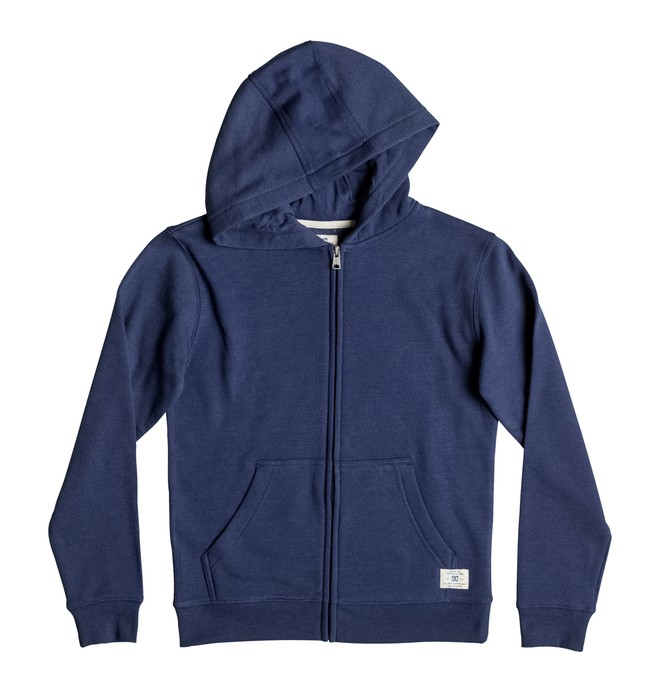 0 Rebel - Zip-Up Hoodie Blue EDBFT03034 DC Shoes