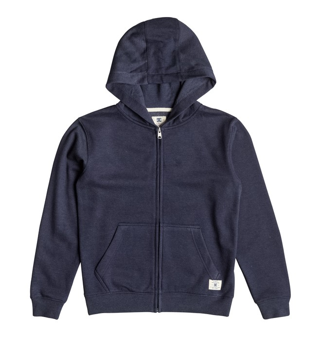 0 Kid's Rebel Zipper Up Hoodie  EDBFT03034 DC Shoes