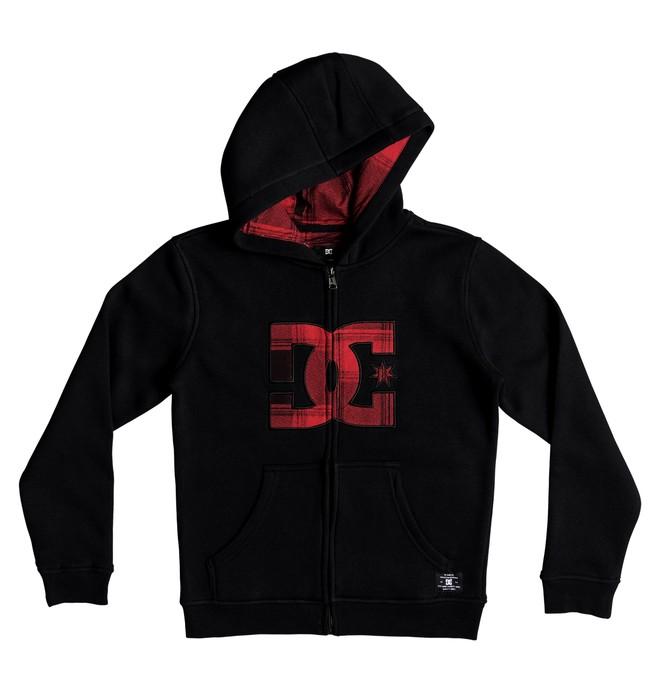 0 Kid's Hook Up Zipper Up Hoodie Red EDBFT03084 DC Shoes
