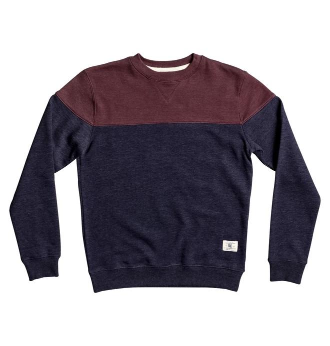 0 Rebel Block - Sweatshirt Blue EDBFT03116 DC Shoes
