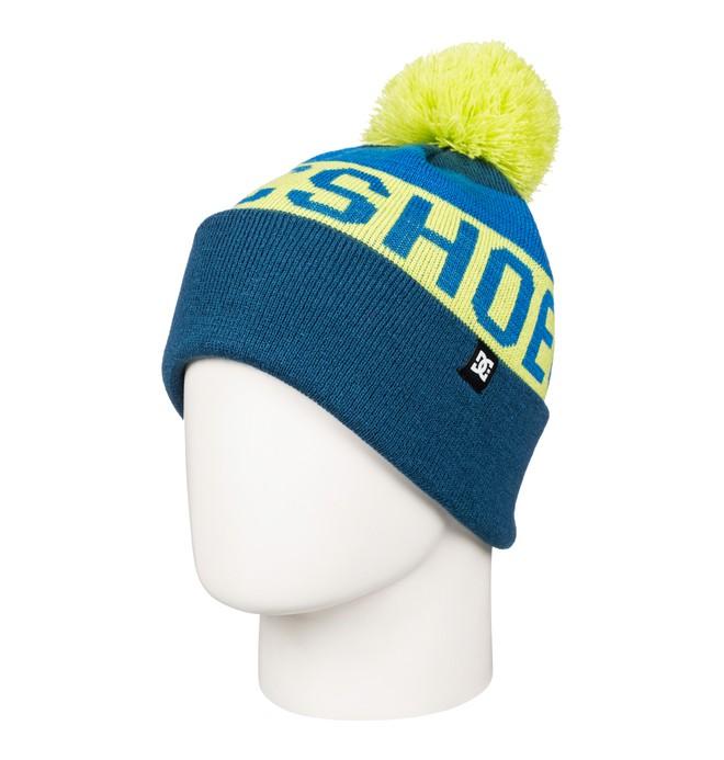 0 Chester - Bobble Hat Blue EDBHA03008 DC Shoes