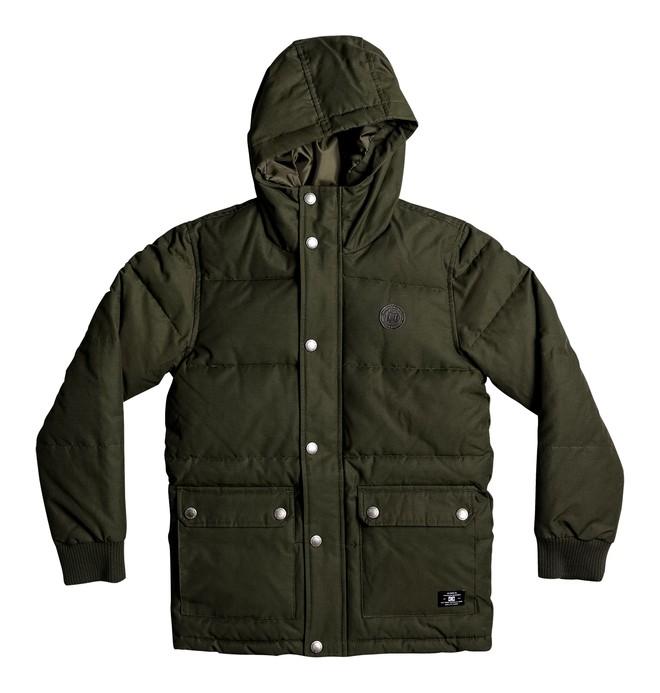 0 Aydon - Padded Hooded Jacket Brown EDBJK03023 DC Shoes