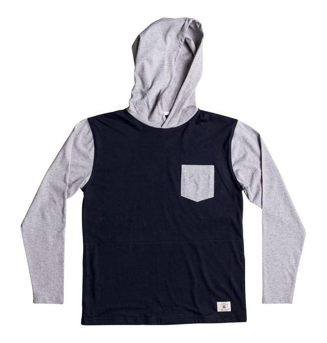 0 Rellin - Tee-shirt à capuche à manches longues Bleu EDBKT03082 DC Shoes