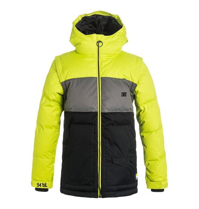 0 Downhill - Puffer Snow Jacket Green EDBTJ03009 DC Shoes